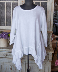 Heart's Desire Clothing Butterfly Top with Ruffled Hem