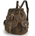 """Ortega"" Men's Full Grain Distressed Leather Urban Backpack"