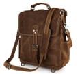 """Nogales"" Men's Full Grain Distressed Leather Backpack & Travel Bag"