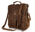 """Nogales"" Men's Full Grain Distressed Leather Backpack & Travel Bag"