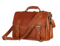 """Reynosa"" Men's Full Grain Leather Convertable Travel Bag & Backpack"