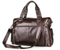 """Martha's Vinyard 2"" Men's Large Soft Leather Overnight Tote Bag - Dark Brown"