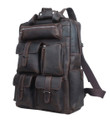 """El Salvador"" Men's Full Grain Distressed Leather Urban Backpack"