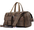 """Ri Grande"" Men's Full Grain Distressed Leather Laptop Briefcase  & Travel Bag"