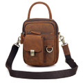 """Timbuktu"" Men's Full Grain Leather Urban Satchel Bag - Natural Tan"