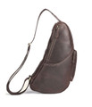"""Tampico"" Men's Full Grain Leather Shoulder Sling  Chest Bag - Brown"