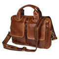 """Nottigham"" Men's Vintage Leather Messenger Bag & Soft Briefcase - Brown"