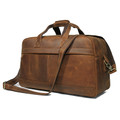 """Ravello"" Full Grain  Leather Duffel Travel Bag - Natural Tan"