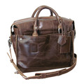 "Amerileather ""Holmes Investigator"" Soft Leather Briefcase - Dark Brown"