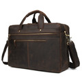 """Galicia"" Top Grain Leather Overnight Carry-on Travel Bag - Brown"