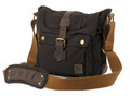 "Men's Italian Style Vertical ""Colonial""  Crossbody Messenger Bag - Black"