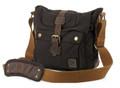 "Men's Italian Style Vertical ""Colonial""  Crossbody Messenger Bag - Black"