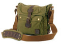 "Men's Italian Style Vertical ""Colonial""  Crossbody Messenger Bag - Army Green"