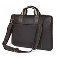 """Seoul"" Vintage Leather Men's Trendy Portfolio Briefcase - Coffee Brown"