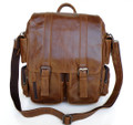 """Lima"" Men's Vintage Leather Convertible Backpack & Shoulder Bag"