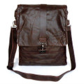 """Winnipeg""  Soft Vintage Leather Convertible Bag & Backpack"