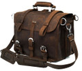 """Santiago"" Men's Full Grain Distressed Leather Backpack & Travel Bag"