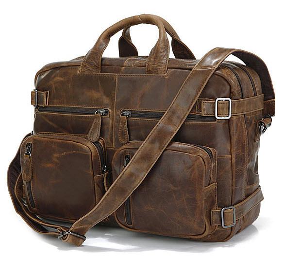 Kobe Distressed Leather Men S Hybrid Backpack Briefcase Modernmanbags Com