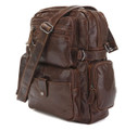 """Liverpool"" Men's Vintage Leather Convertible Backpack & Shoulder Bag - Brown"