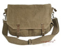 Virginland Military Classic Canvas Messenger Bag - Khaki Green