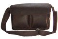 """San Juan"" Men's Full Grain Leather Messenger Bag & Satchel - Brown"