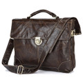 """Busan"" Trendy Vintage Leather Messenger Bag & Briefcase"