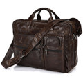 """St. Petersburg"" Men's Soft Vintage Leather Briefcase Messenger Bag"