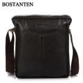 """Marseille"" Men's Leather Vertical Messenger Leisure Bag"