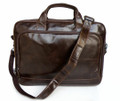 """Frankfurt"" Men's Vintage Leather Briefcase & Messenger Bag"