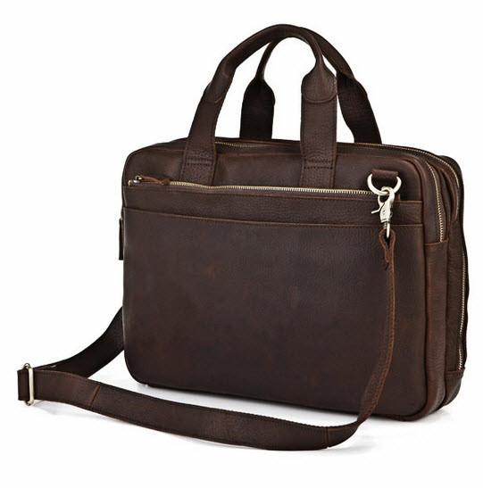 1d3b6eacac72 ... Men s Full Grain Leather Briefcase   Messenger Bag. Image 1. Loading  zoom