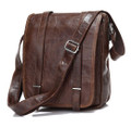 """Chattanooga"" Men's Leather Vertical Messenger Bag & Tablet Bag Case"