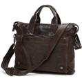 """Gothenburg"" Men's Soft Vintage Leather Crossbody Messenger Bag"