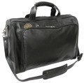 Amerileather 18 inch Leather Carry on Weekend Duffel Bag - Black