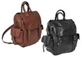 Amerileather 3 Way Convertible Backpack & Shoulder Bag - Brown