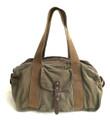 """Virginland """"Weekender"""" Large Distressed Canvas Duffel Bag - Army Green"""