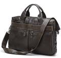 """Dusseldorf"" Men's Trendy Vintage Leather Crossbody Messenger Bag"