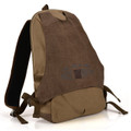 "Muze ""Columbia Street"" Men's Sporty Canvas Daypack - Coffee Brown"