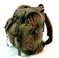 Men's Trendy Military Style Canvas Backpack - Army Green