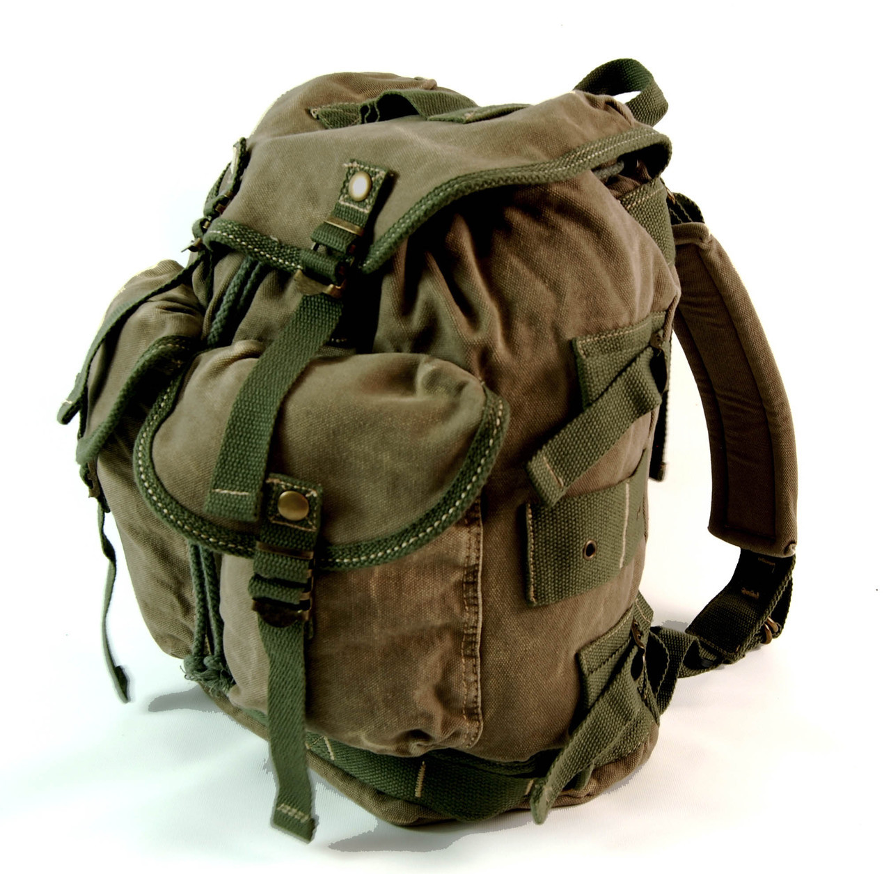 e688da0d55 Men s Trendy Military Style Canvas Backpack - Army Green ...