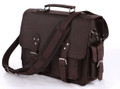 """San Diego"" Men's Full Grain Distressed Leather Crossbody & Travel Bag"