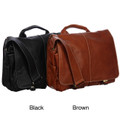 Amerileather Legacy Leather Woody Portfolio Briefcase - Black
