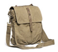 "Virginland ""T-Shirt & Jeans 2"" Large Canvas Satchel & Backpack - Khaki Green"
