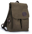 "Muzee ""Neptune Avenue""  Classic Men's Canvas Bookbag Backpack - Coffee Green"
