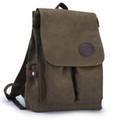 "Muzee ""Neptune Avenue""  Classic Men's Canvas Bookbag Backpack - Coffee Green"
