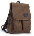 "Muzee ""Neptune Avenue""  Classic Men's Canvas Bookbag Backpack - Coffee Brown"