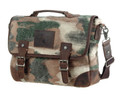 "Linshi Tasks ""Crossroads"" Men's Canvas Messenger Bag with Leather Straps - Urban Cam"