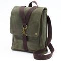 """Ducti """"Ambush"""" Suede Hybrid  Laptop Messenger Bag & Backpack - Green"""