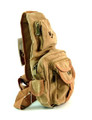 "Amik ""Angelino Heights"" Men's Canvas Single Shoulder Chest Sling - Tan"