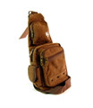 "Amik ""Arts District"" Men's Canvas Single Shoulder Chest Sling - Coffee Brown"