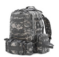Men's Large Military Style Modular Tactical Backpack & Daypack - Camoflage